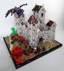 Slowbelly Keep (soccersnyderi) Tags: tower castle dragon lego interior courtyard build chronicles moc peleg slowbelly