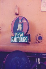 F&W Railtours headboard, 7.1.84 (Alan Bark) Tags: 7184 fwrailtoursheadboard