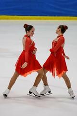 Face-Off (brev99) Tags: ice michigan iceskating pair skaters synchronizediceskating colorefex niksoftware d7100 topazdenoise tamron70300vc drportersynchronizedskatingclassic