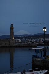 (EiRini_ZachaRO) Tags: sea urban lighthouse night port greece crete urbanlife kriti amazingblue      latreia eirinizacharopoulou  farosrethumno blueviewgreece