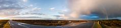 Hincheslea Moor Rainbow Pano (Humphrey Hippo) Tags: uk england panorama car nissan unitedkingdom pano sony hampshire explore gb newforest 350z fairlady zebedee brockenhurst nissan350z nex explored nissanfairlady nex6 sonynex6 sonyepz1650mm