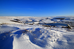 Castleshaw Valley (Craig Hannah) Tags: blue sky snow yorkshire reservoir valley oldham pennine westyorkshire delph drift moorland saddleworth greatermanchester westriding castleshaw craighannah
