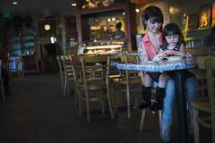 27/365 - Mother/Daughter Cookie Treat (Joshua Nistas) Tags: family arizona art tattoo mom 50mm cafe nikon toddler artist cookie tucson mommy daughter az nikkor d800 tucsonaz