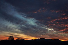 Colours of sunset (corrad) Tags: sunset sky country marche