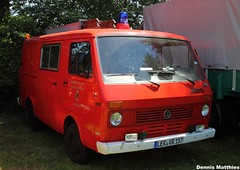 T3's big brother (The Rubberbandman) Tags: white bus green vw truck germany volkswagen samba 4x4 german micro type vehicle van bully camper combi department firedepartment kombi t2b lt transporter greenwhite westfalia wilhelmshaven bulli typ type2 microvan typ2 lt35