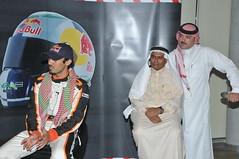 HRH Price Abdul Aziz Bin Turki Al-Faisal at a press conference announcing the new title for Red Bull Champion.. (preone0) Tags: red cars car racetrack race championship champion prince bull porsche jeddah saudiarabia hrh abdul aziz faisal raceway gt3 turki hisroyalhighness alfaisal