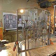 Art-Deco Fireplace Grill, in the final stages of Production (Man_of Steel) Tags: stainlesssteel artdeco deco stainlesssteelfabrication artdecoratif artdecochicago kramerdesignstudio kramerdesignstudiocom wwwkramerdesignstudiocom frenchartdecofireplacescreen artdecofireplacescreen stainlesssteelfabricatorinchicago stainlesssteelmetalfabricatorinchicago stainlesssteelfurniturefabricatorinchicago randallkramerkramerdesignstudiocustommetalworkforhomesandcommercialinteriors custommadesteelfurniture artdecometalworkinchicago steelartdeco artdecosteelfabrication stainlesssteeltype304 customfurnituremadewithstainlesssteel