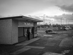 The Kiosk (The Anti-Sharpness League) Tags: mono scotland fuji fife kiosk rosyth x100 xtrans jadmor
