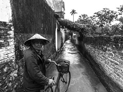 Further (Krys Dygas) Tags: old white man black bike wall rural country vietnam rooad