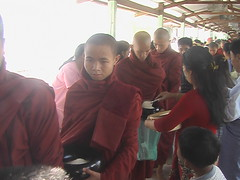 Procession of Monks Collect Gifts at Bawrithat Pagoda during Tabaung Full Moon Festival