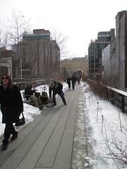 High Line Snow Covered Railroad Overpass Tracks to Nowhere 8370 (Brechtbug) Tags: road park street new york city nyc railroad winter urban snow streets west art architecture garden way design march high downtown gallery path walk manhattan district balcony packing side nowhere tracks overpass rail pedestrian mini el meat line midtown covered mezzanine transportation boardwalk former elevated blizzard derelict reclamation highline skyway redesign the remodeled 2015 03072015