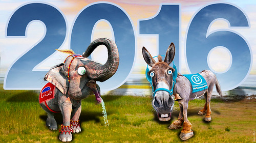 Republican Elephant & Democratic Donkey 2016