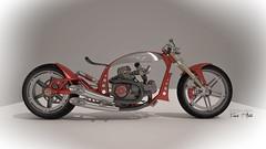 Duc-Chopp (F.T.Aiello) Tags: design 3d wheels engine fork made brakes concept custom ducati buell aiello frnk hlins