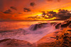 The Everlasting Burn @ China Walls (rayman102) Tags: sunset seascape hawaii oahu portlock chinawall watermotion chinawalls