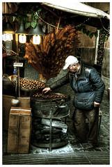 castagnaro (G e e n o) Tags: street old food man roma nikon strada colori cibo vecchio 18105 castagne d90 caldarroste