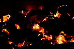 fire ! (Azzé A.M.A) Tags: hot night dark fire lights barbecue throwback