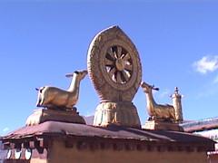 Jokhang Rooftop Dharma Wheel