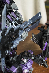 Upgraded hands. (Jon..Hall) Tags: scale transformers oversized upgrade masterpiece shrapnel insecticon skywarp nerorex