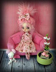 Too much pink is never enough (Pink Anemone) Tags: pink doll god dal more oh much too pinocchio repaint prettydreadfulcustombypinkanemone