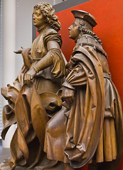 Erzengel Raphael und Tobias, 1516 // by Veit Sto, Germanische Nationalmuseum, Nuremberg (mike catalonian) Tags: wood sculpture germany religious tobias raphael 1516 1510s xvicentury veitstoss