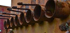Pipe Dreams (BKHagar *Kim*) Tags: metal rust metallic pipes pipe rusty rusted round bkhagar