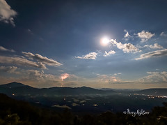 BRP Full Thunder Moon (Terry Aldhizer) Tags: blue sky moon night clouds stars july full ridge parkway terry lightning storms thunder thaxton aldhizer wwwterryaldhizercom