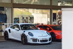 Porsche 911 GT3 RS (Stian Hheim) Tags: car cars supercar supercars auto autos automobile automobiles filter stian hheim photography nikon d3200 af 50mm spring april topmarques monaco 2016 porsche gt3 rs 911 polarizingfilter polarized polarizing photoshop photo photographie parked