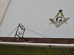 Masonic Signs, Logan, IA (Robby Virus) Tags: logan iowa masonic temple lodge signs signage symbols masons freemasons fraternal organization