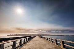 Pier (Muzzlehatch) Tags: wildfire los angeles smoke pier cabrillo beach