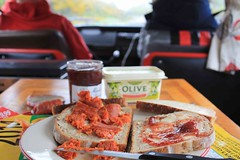 IMG_8985 (Aussiboris) Tags: vw stanford hall 2016 snack chorizo jam sandwich