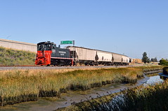 Holding Haystack (caltrain927) Tags: northwestern pacific shortline railroad railway empty grain freight emd mp15dc mp15 ex sp southern petaluma california ca haystack