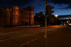 PortaNigra 015 (ollicrusoe) Tags: roman porta nigra trier trevis germany night available light trails