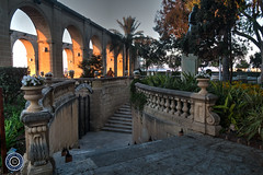 Upper Barrakka Gardens (Michael N Hayes) Tags: malta valletta mediterranean europe sunrise upperbarrakkagardens summer fujifilmxpro1 sea culture city