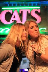 Karaoke at Cat's Meow. (Flagman00) Tags: karaoke catsmeow neworleans frenchquarter  milf gilf hotchicks hot pretty sexy women grandma mom singing stage nightlife drunk horny