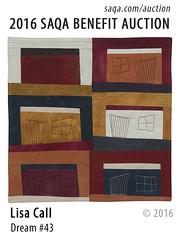 Dream #43 by Lisa Call (saqaart) Tags: artquilts saqa fiberart quilts textiles artwork stitched layered