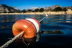 No: 6 (Melissa Maples) Tags: mediterranean sea water konyaaltbeach beach antalya turkey trkiye asia  apple iphone iphone6 cameraphone rope float buoy mountains morning summer