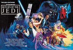 Return of the Jedi (1983) by Josh Kirby (Tom Simpson) Tags: film illustration movie poster starwars movieposter princessleia darthvader lukeskywalker 1980s posterart hansolo returnofthejedi joshkirby