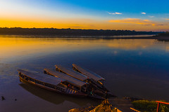 Sunrise in Amazons (Mustafa Kasapoglu) Tags: amazons wildlife boats morning sunrise mother nature d810 puertomoldonado peru