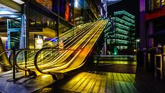 colour party (K.H.Reichert) Tags: nightshot architectur colorful escalator architektur sonycenterberlin sony architecture cinema kino rolltreppe nachtfoto night