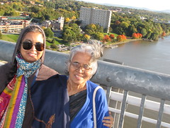 Dutchess County, NY-15.09 (davidmagier) Tags: portrait usa newyork sunglasses scenic aerial fallfoliage poughkeepsie aruna mataji
