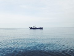Listvyanka (olesjafan) Tags: russiannature nature          beautiful lonely summer blue ship water irkutsk siberia lakebaikal listvyanka
