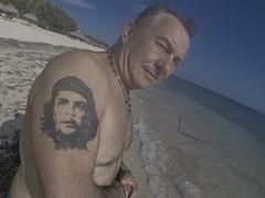 Russian (gustavo medicci) Tags: cuba cuban alocubano cubatravel travel trip caribe russian man che guevara beach ancon hotel mar retrato people gopro