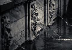 Three Face Fountain (zuni48) Tags: fountain baltimore sculpture monochrome blackandwhite baltimoremaryland threeofakind flickrfriday