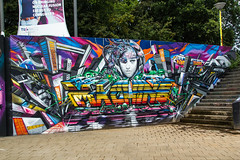 Machine (Dutch_Chewbacca) Tags: graffiti berenkuil eindhoven rockcity art 040 noordbrabant netherlands dutch holland spray can colors canon dlsr sigma 23 july 2016 summer saturday weekend pretty street legal machine tu
