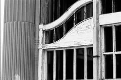 window frame (mfauscette) Tags: 35mm fsc ishootfilm istillshootfilm kodak kodakportra800 nikon nikonf6 analog asburypark blackandwhite boardwalk film filmisnotdead filmshooterscollective jerseyshore urbandecay