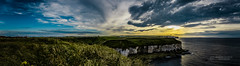 North Landing Panorama (tbnate) Tags: nikon d750 nikond750 flamborough northlanding landscape seaside seascape sunset northsea yorkshire eastridingofyorkshire tbnate clouds outdoor outside nature dusk sky panorama sun
