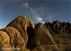 The Milky Way And Moonlight (Mimi Ditchie) Tags: alabamahills easternsierra lonepine milkyway astrophotography night nightsky star boulders stars rocks moonlight hills getty gettyimages mimiditchie mimiditchiephotography