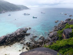 Similan Island, Thailand (Jan-2016) 20-010 (MistyTree Adventures) Tags: seasia thailand outdoor mukosimilannp panasoniclumix similanisland bay boats rocks ocean trees