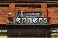 modern cleaners (oldogs) Tags: sign neon vintage brick cleaners t6s typography newcastle
