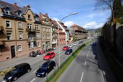in the streets of Freiburg (9) (BZK2011) Tags: strase verkehr street town stadt freiburg fujifilm xa1 weitwinkel festbrennweite frhjahr freiburgimbreisgau autos cars